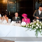 Wedding speeches at Bartley Lodge Hotel, New Forest.