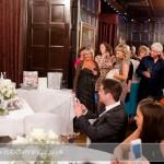 Bartley Lodge Wedding - Sam & Carl cutting their wedding cake.