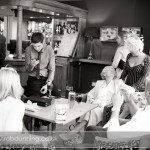 Wedding guests in the bar area at Bartley Lodge Hotel